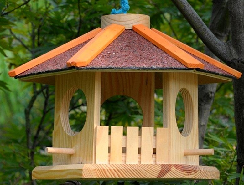 Nichoir maison ronde nichoir suspendregasco - Maisons rondes en bois ...