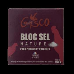 bloc sel nature 950g alimentation poule de la marque gasco
