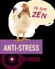 visuel avec une poule pour alimentation anti-stress gasco