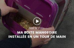 Vidéo : ma boite mangeoire installée en un tour de main