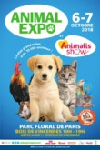 affiche pour le salon des animaux avec la participation de gasco